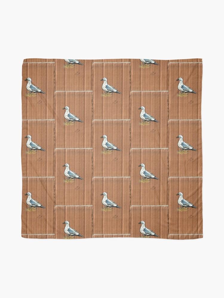 Alternate view of Gulls on Grass #1 Scarf