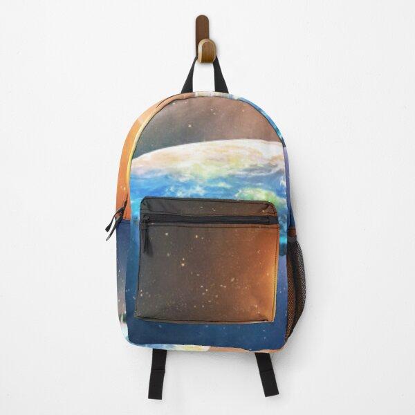 Print, Flat Earth #FlatEarth Backpack