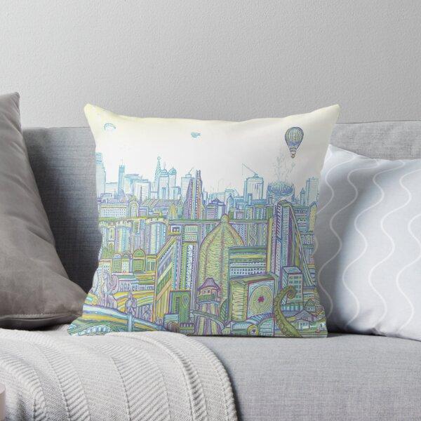 Megatropolis, Riddle District Throw Pillow