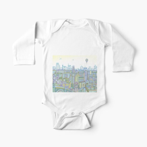 Megatropolis, Riddle District Long Sleeve Baby One-Piece