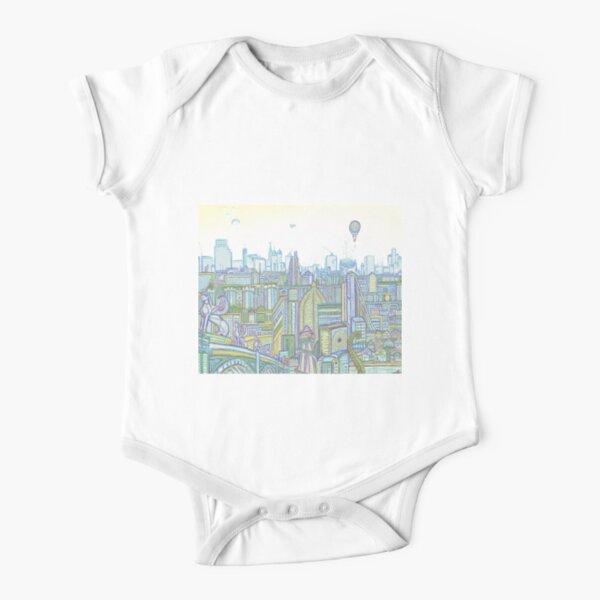 Megatropolis, Riddle District Short Sleeve Baby One-Piece
