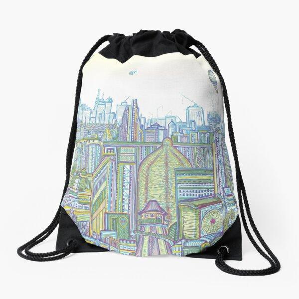 Megatropolis, Riddle District Drawstring Bag