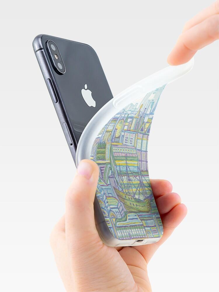 Alternate view of Megatropolis, Marina District iPhone Case & Cover