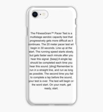 The Fitnessgram pacer test funny iPhone Case/Skin