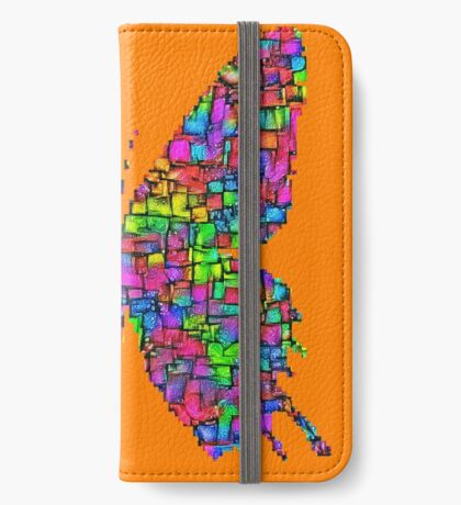 Artificial neural style Simplex pixel Papilio Gloria butterfly iPhone Wallet
