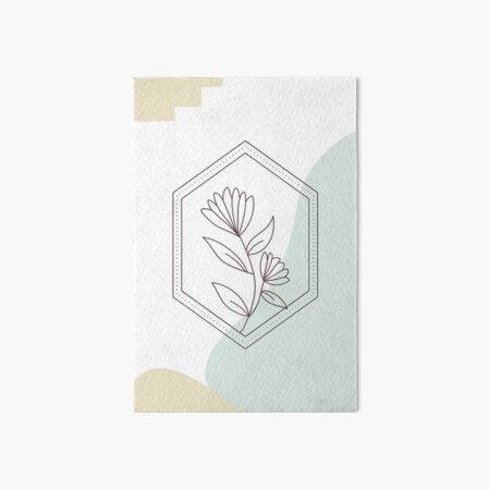 Simple Flower - Abstract Art Board Print