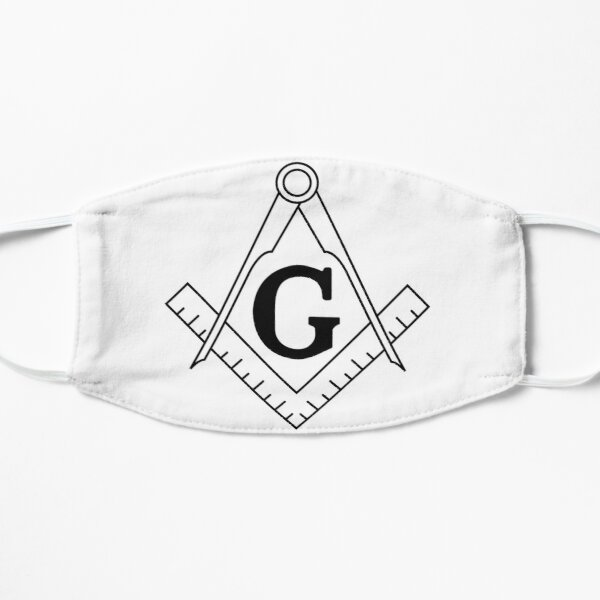 The Masonic Square and Compasses Flat Mask