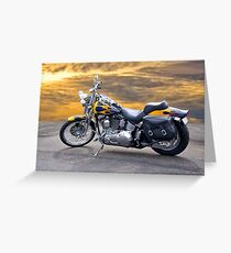 Harley Davidson Softail Motorcycle Greeting Card