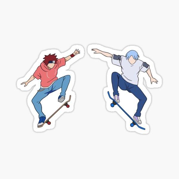 sk8 the infinity - Reki and Langa skating Sticker