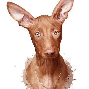 Pharaoh Hound Dog by KKartist