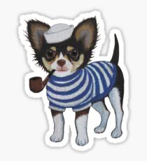 Sailor Chihuahua Sticker