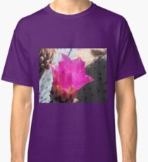 Pink Cactus Flower Up Close Classic T-Shirt