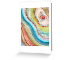 AGATE Inspired Watercolor Abstract 01 Greeting Card
