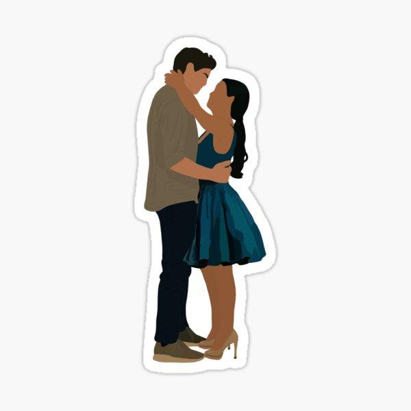 Peter Kavinsky and Lara Jean Sticker