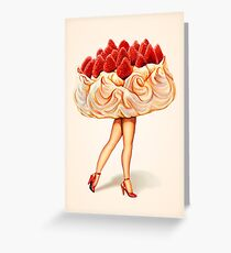 Cake Walk - Pavlova Greeting Card