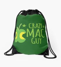 Crazy Mac guy Drawstring Bag