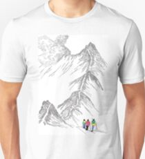 Fellwakers on Striding Edge, English Lakes Unisex T-Shirt