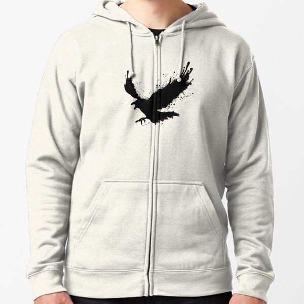 Raven Zipped Hoodie
