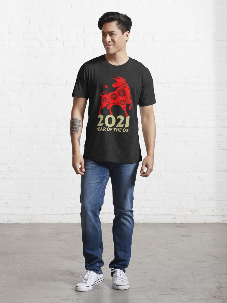 Alternate view of Chinese new year ox Essential T-Shirt