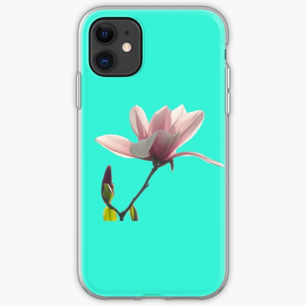 Pink magnolia unfolding iPhone Soft Case
