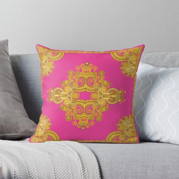 Bling-Bling Sugar Girl Pink Throw Pillow