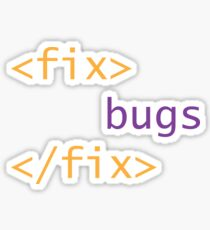 Fix Bugs Sticker