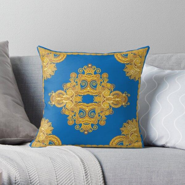 Bling-Bling Sugar Girl Blue Throw Pillow