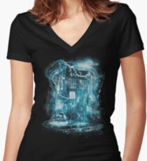 Time and space storm Women's Fitted V-Neck T-Shirt