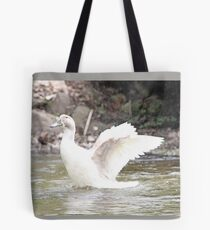 White Female Duck Tote Bag