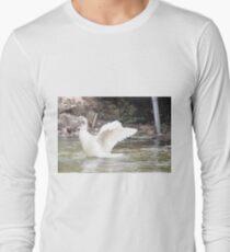 White Female Duck Long Sleeve T-Shirt