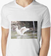 White Female Duck Men's V-Neck T-Shirt