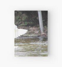 White Female Duck Hardcover Journal