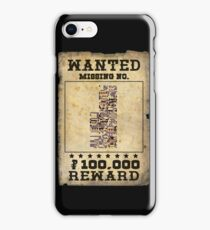 Missing no. Pokémon WANTED iPhone Case/Skin