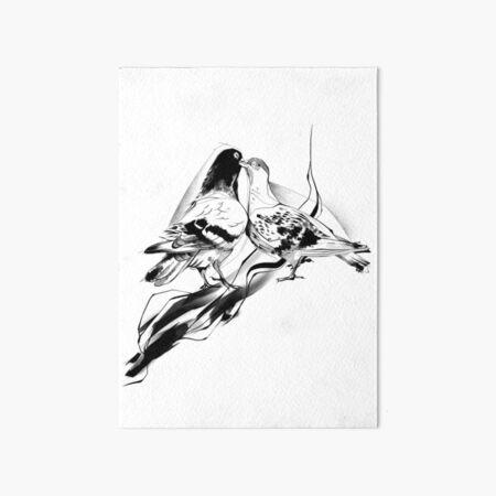 Pigeon Lovers Art Board Print
