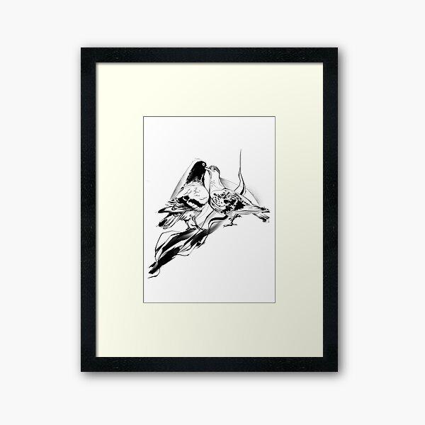 Pigeon Lovers Framed Art Print