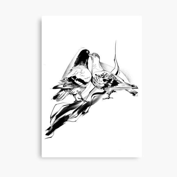 Pigeon Lovers Canvas Print