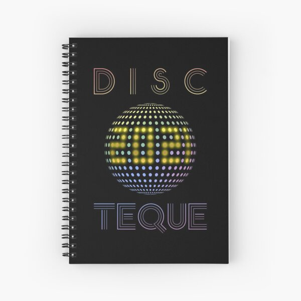 Eurovision 2021- Eurovision song contest -  ESC fans - Discoteque 2021 (pride colors) Spiral Notebook
