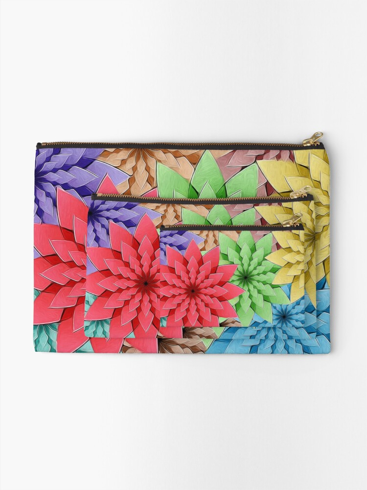Alternate view of Colorful Flowers Zipper Pouch