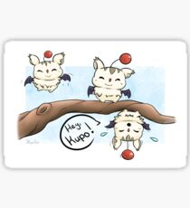 Silly Moogles Sticker