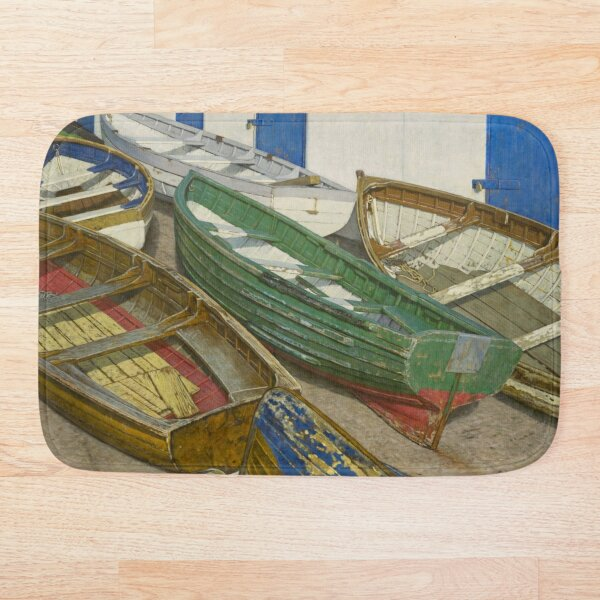Boats on Slipway Bath Mat