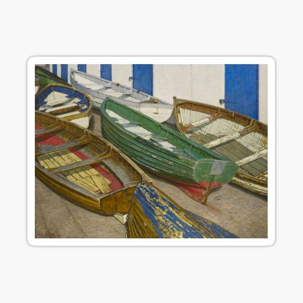 Boats on Slipway Sticker