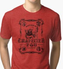 (Vintage French) The Mad Hatter, Le chapelier fou, Alice in Wonderland  Tri-blend T-Shirt