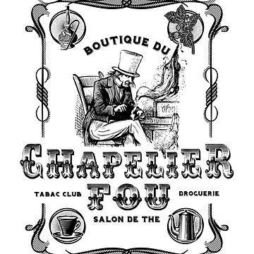 (Vintage French) The Mad Hatter, Le chapelier fou, Alice in Wonderland  by KokoBlacsquare