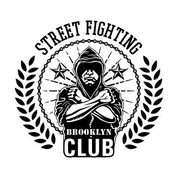 Street fight emblem Brooklyn Club black by valerisi