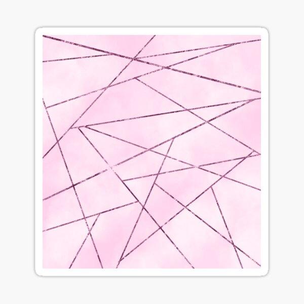 Pink Abstract Design Sticker