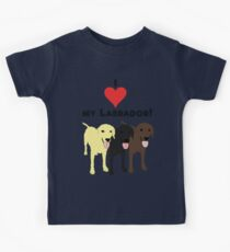 Camiseta para niños Amo mi Labrador.