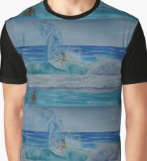 Gold Coast Surfing Graphic T-Shirt
