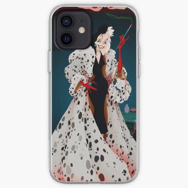 Cruella de Vil, 2021, 101 Dalmatians, Remake, Dog, Emma Stone, London iPhone Soft Case