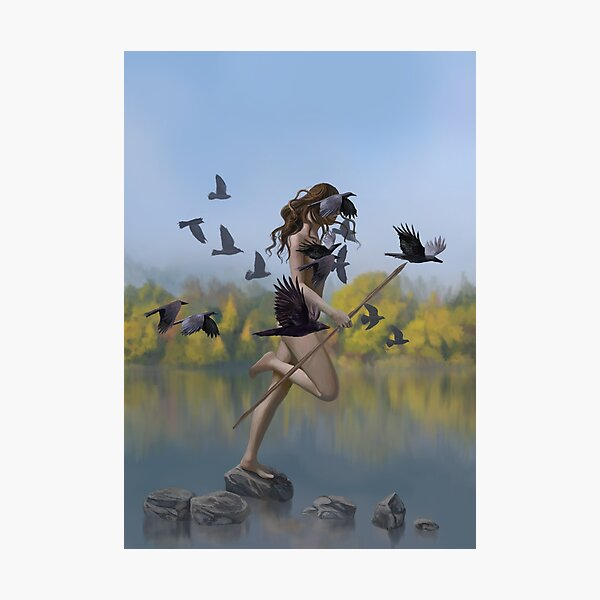 The Girl Who Danced With the Crows Photographic Print
