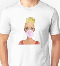 Blowing Bubble Gum Girl! Unisex T-Shirt